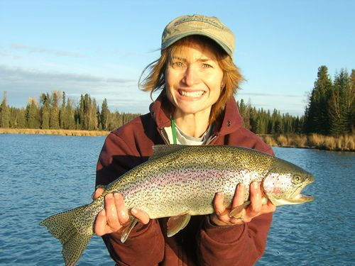 Cindy's 1st Kenai River Rainbow Trout, October 2006