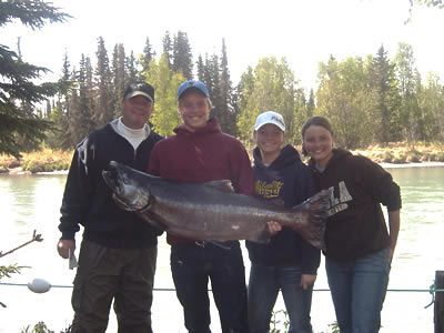 Steve, Jen, Dave & Emily Graves King Salmon fishing on the Kenai River