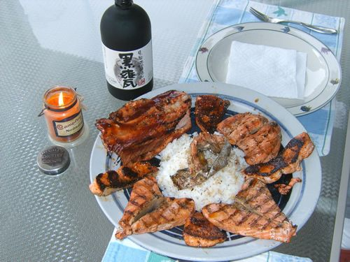 King Salmon Platter Japanese Style