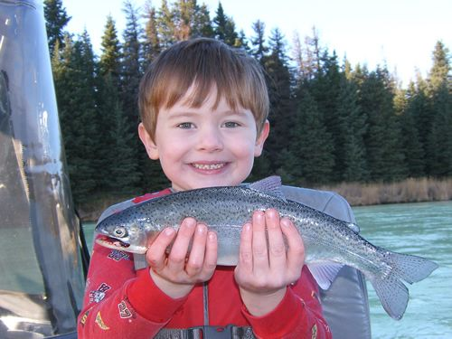 Taylor James and his fine Kenai River Rainbow Trout