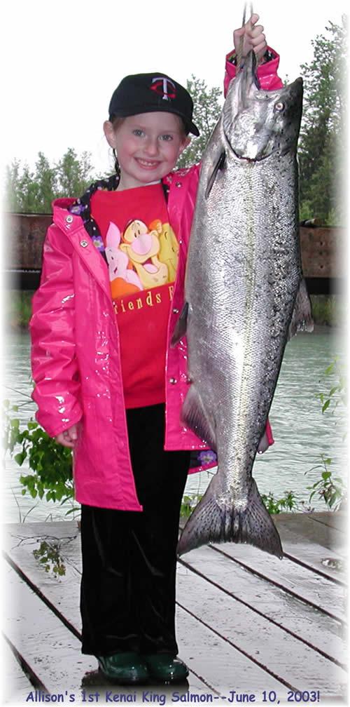 Allison's 1st King Salmon!