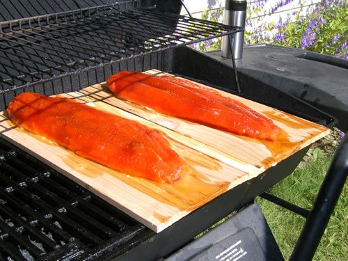Cedar Planked Kenai King Salmon