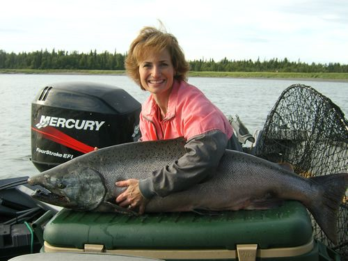 Cindy's 55 lb Kenai River King Salmon