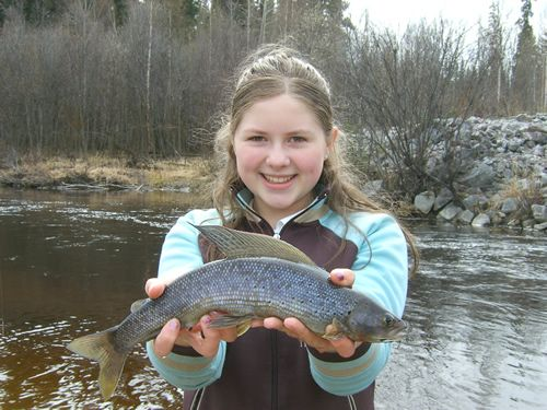 Jillian's 1st Arctic Grayling of her life!