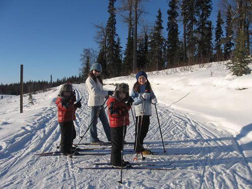 Skiing in Soldotna Alaska