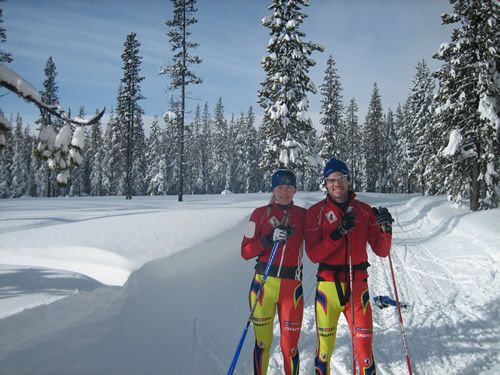 Lars & His Gal--Nordic Ski Champs