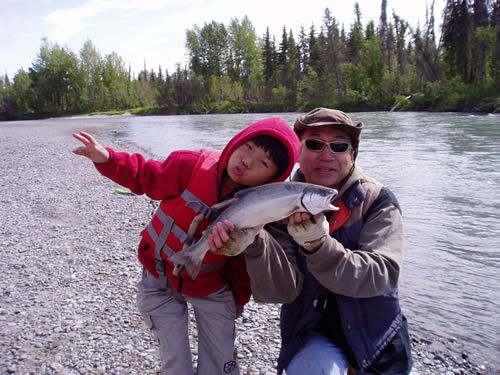 Nari & Masa fishing the Kenai!