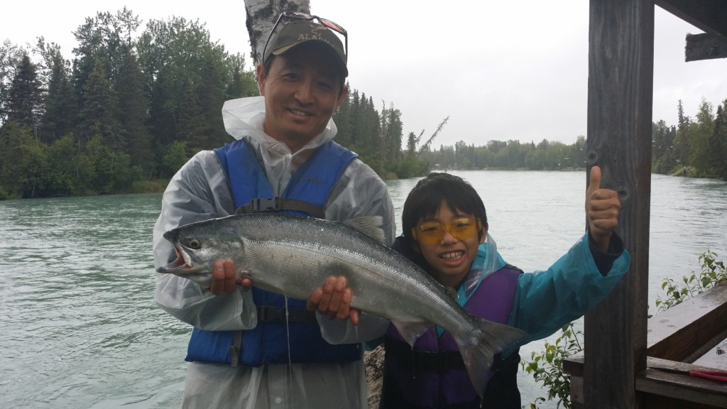 Shingo & Shuma Kato with 1st Alaskan Red Salmon