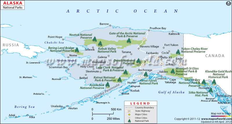 Alaskas National Parks The Alaska Dream - Alaska map usa